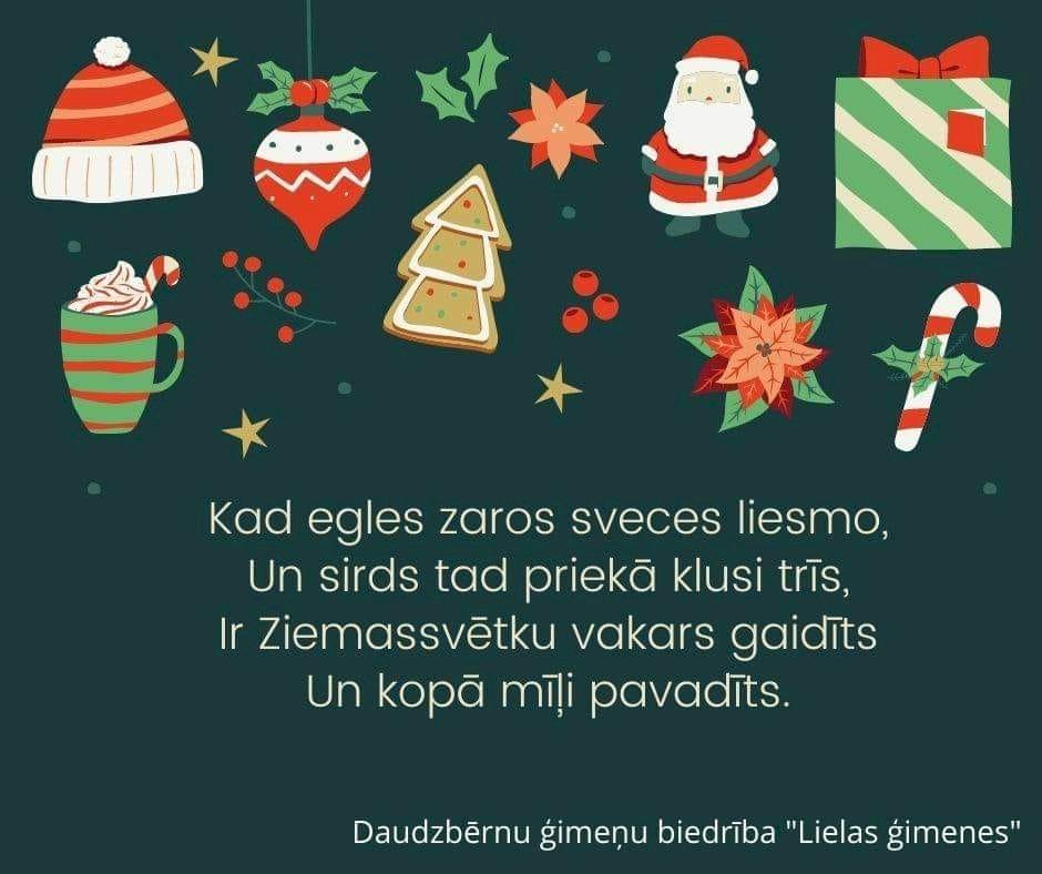 Priecīgus un ģimeniskus Ziemassvētkus!